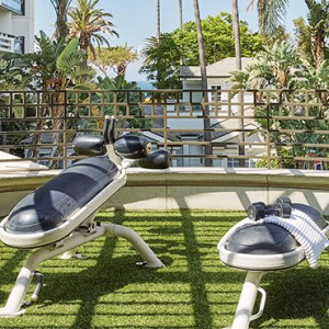 gym - Fairmont Miramar Hotel and Bungalows - luxury los angeles honeymoon packages