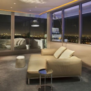 Los Angeles Honeymoon Packages Andaz West Hollywood Penthouse Suite 2