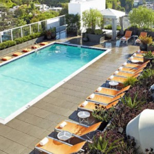 Los Angeles Honeymoon Packages Andaz West Hollywood Rooftop Pool
