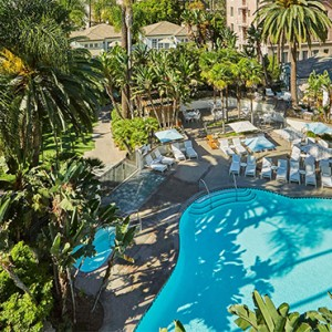 pool - Fairmont Miramar Hotel and Bungalows - luxury los angeles honeymoon packages