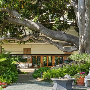 restaurant2 - Fairmont Miramar Hotel and Bungalows - luxury los angeles honeymoon packages