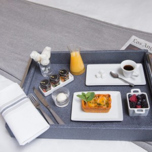 room dining - Loews Hollywood Hotel - luxury los angeles honeymoon packages