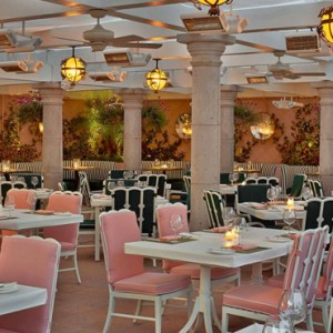 the cabana cafe - beverly hills hotel - luxury los angeles honeymoon packages