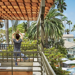 yoga - Fairmont Miramar Hotel and Bungalows - luxury los angeles honeymoon packages