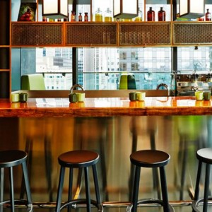 bar - CitizenM New York Times Square Hotel - Luxury New York Honeymoon Packages