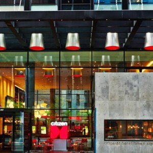 exterior 2 - CitizenM New York Times Square Hotel - Luxury New York Honeymoon Packages
