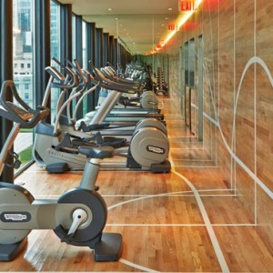 gym- CitizenM New York Times Square Hotel - Luxury New York Honeymoon Packages