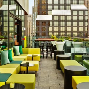 rooftop - CitizenM New York Times Square Hotel - Luxury New York Honeymoon Packages
