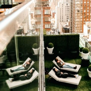 terrace - CitizenM New York Times Square Hotel - Luxury New York Honeymoon Packages