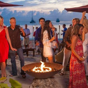 Jamaica Honeymoon Packages Sandals Negril Fire Pit 2