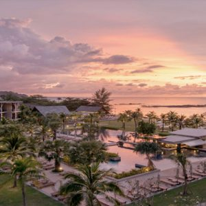 Thailand Honeymoon Packages The Sands Khao Lak By Katathani Pool At Sunset
