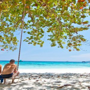 Thailand Honeymoon Packages The Sarojin Khao Lak Couple On Beach
