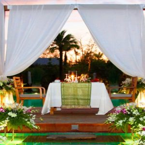 Thailand Honeymoon Packages The Sarojin Khao Lak Private Dining1