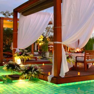 Thailand Honeymoon Packages The Sarojin Khao Lak Pool At Night
