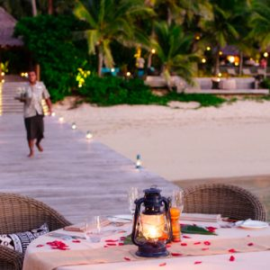 Fiji Honeymoon Packages Tokoriki Island Resort Romantic Dining 2