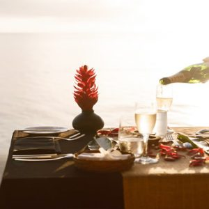 Fiji Honeymoon Packages Tokoriki Island Resort Romantic Dining