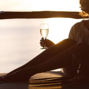 Fiji Honeymoon Packages Tokoriki Island Resort Women Drinking Champagne