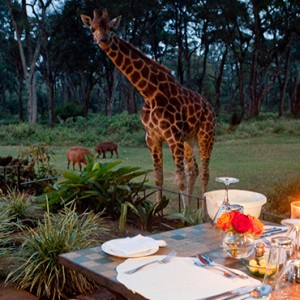 candlelit-dinner-giraffe-manor-luxury-kenyan-honeymoon-packages