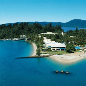 Daydream Island Resort & Spa - Australia Honeymoon Packages - aerial view resort