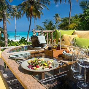 Gili Lankanfushi - Maldives Honeymoon Packages - dining with a view
