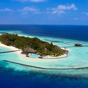 Komandoo Island Resort - Maldives honeymoon packages - aerial view