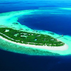 Reethi Beach Resort - Maldives Honeymoon Packages - aerial view