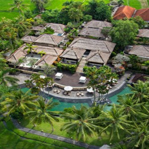The Ubud Village Resort & Spa - Bali Honeymoon Packages - aerial view