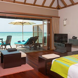 Veligandu Island Resort & Spa Maldives Honeymoon Packages Sunset Jacuzzi Water Villas