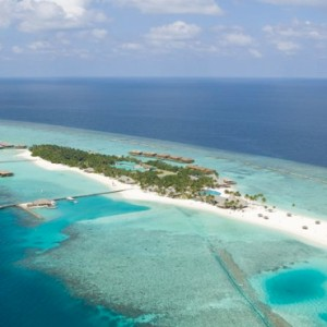 Veligandu Island Resort & Spa - Maldives Honeymoon Packages - aerial view