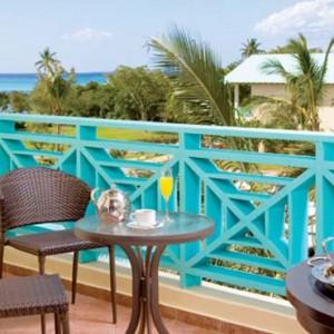 Dreams La Romana Resort & Spa - Dominican Republic luxury Honeymoon packages - Preferred Club Partial Ocean View balcony