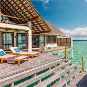 Four Seasons Resorts at Landaa Giraavaru - Maldives Luxury Honeymoon Packages - Sunset Water Villa deck