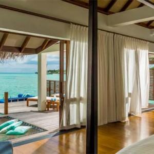 Four Seasons Resorts at Landaa Giraavaru - Maldives Luxury Honeymoon Packages - Sunset Water Villa view