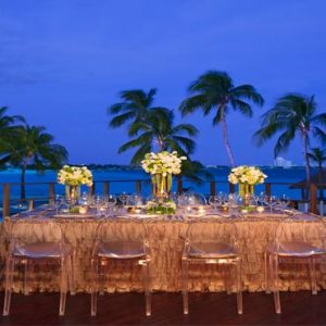 Mexico Honeymoon Packages Dreams Sands Cancun Resort And Spa Beach Wedding Dinner Reception At Night