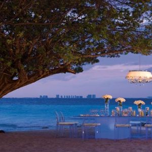 Mexico Honeymoon Packages Dreams Sands Cancun Resort And Spa Beach Wedding Dinner Reception Under The Tree
