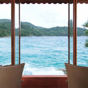 Sea Shell Veranda and Bar - mom tris villa roayle phuket - luxury phuket honeymoons