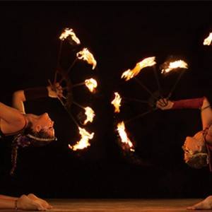 fire show - Dreams Sands Cancun Resort & Spa - Mexico Luxury honeymoon packages