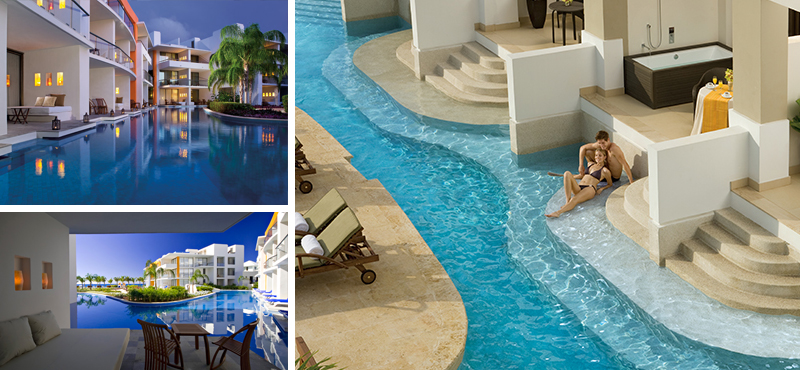 swim up suites - reasons why you should honeymoon at secrets resorts - luxury all inclusive honeymoons