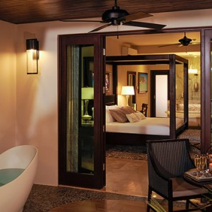7 Romeo & Juliet Walkout Butler Suite with Patio Tranquility Soaking Tub - Sandals Royal Caribbean - Luxury Jamaica Honeymoons