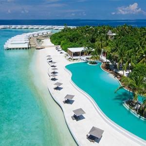 Amilla Fushi - Maldives Honeymoon packages - Aerial view