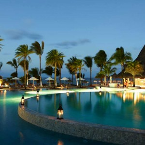 Pool at night - LUX Belle Mare - Luxury Mauritius Holidays