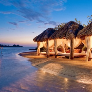 cabanas at night - Sandals Royal Caribbean - Luxury Jamaica Honeymoons