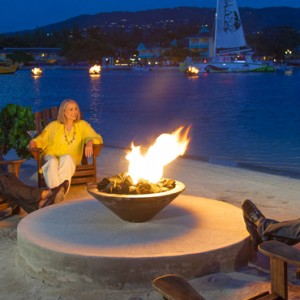fire pit - Sandals Royal Caribbean - Luxury Jamaica Honeymoons