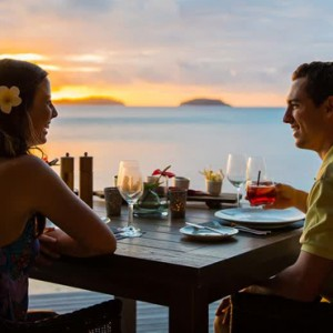 sunset dining - Kokomo Island resort - Luxury Fiji honeymoons