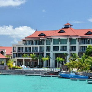 Eden Bleu Hotel - Luxury Seychelles Honeymoon packages - exterior of hotel