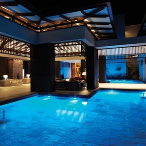 Eden Bleu Hotel - Luxury Seychelles Honeymoon packages - pool at night