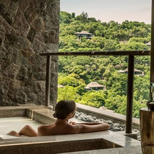 Four Seasons Resort Seychelles - Luxury Seychelles Honeymoon packages - Bathtub with a view