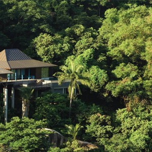 Four Seasons Resort Seychelles - Luxury Seychelles Honeymoon packages - Garden view villa aerial view