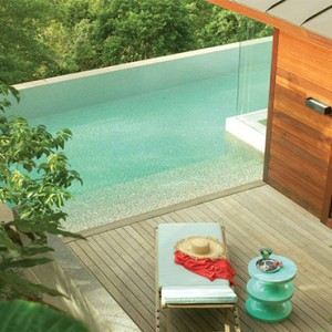 Four Seasons Resort Seychelles - Luxury Seychelles Honeymoon packages - Garden view villa pool