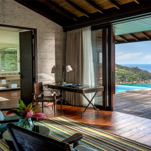 Four Seasons Resort Seychelles - Luxury Seychelles Honeymoon packages - Hilltop ocean view villa