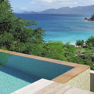 Four Seasons Resort Seychelles - Luxury Seychelles Honeymoon packages - Hilltop ocean view villa pool